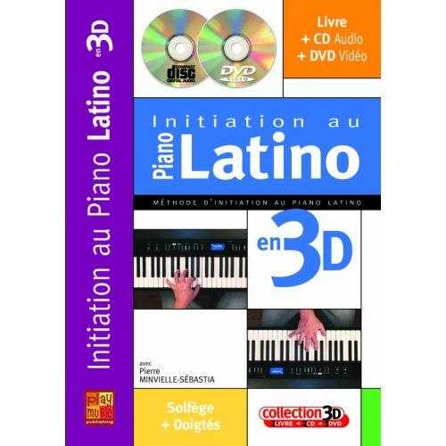PLAY MUSIC PUBLISHING MINVIELLE-SEBASTIA - INITIATION AU PIANO LATINO EN 3D CD + DVD