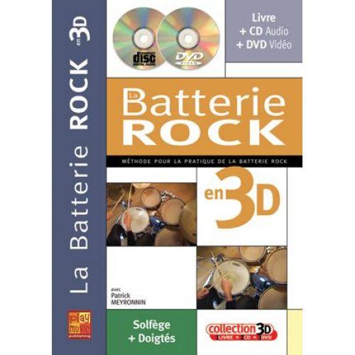 PLAY MUSIC PUBLISHING MEYRONNIN P. - BATTERIE ROCK EN 3D CD + DVD