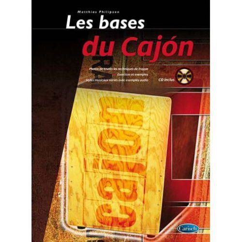 VOGGENREITER PHILIPZEN MATTHIAS - LES BASES DU CAJON + CD - PERCUSSION