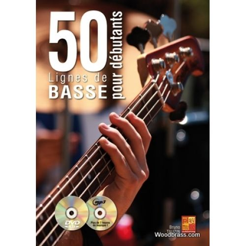 PLAY MUSIC PUBLISHING TAUZIN B. - 50 LIGNES DE BASSE POUR DEBUTANTS + CD
