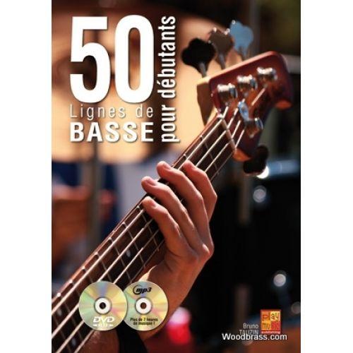 PLAY MUSIC PUBLISHING TAUZIN B. - 50 LIGNES DE BASSE POUR DEBUTANTS + CD