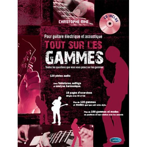 CARISCH RIME CHRISTOPHE - TOUT SUR LES GAMMES + CD - GUITARE