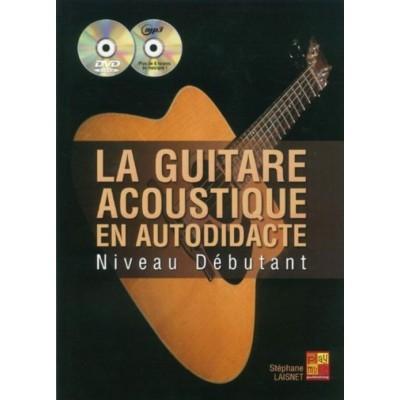 PLAY MUSIC PUBLISHING LAISNET S. - LA GUITARE ACOUSTIQUE EN AUTODIDACTE + CD + DVD