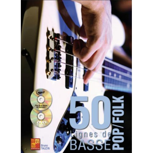 PLAY MUSIC PUBLISHING TAUZIN BRUNO - 50 LIGNES DE BASSE POP & FOLK + CD + DVD