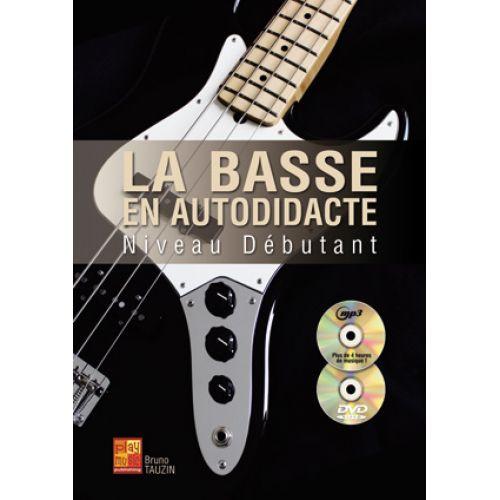 PLAY MUSIC PUBLISHING TAUZIN BRUNO - LA BASSE EN AUTODIDACTE - NIVEAU DEBUTANT + CD