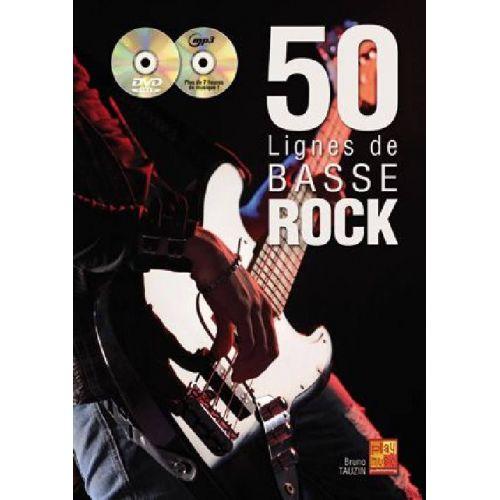 PLAY MUSIC PUBLISHING TAUZIN B. - 50 LIGNES DE BASSE ROCK + CD