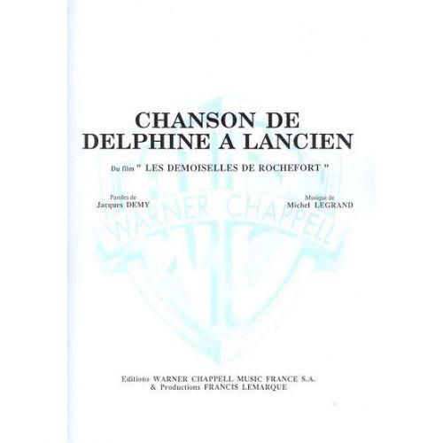 CARISCH LEGRAND MICHEL - CHANSON DE DELPHINE A LANCIEN - PIANO, CHANT