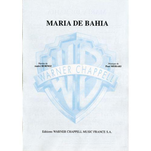 CARISCH MARIA DE BAHIA - PIANO, CHANT