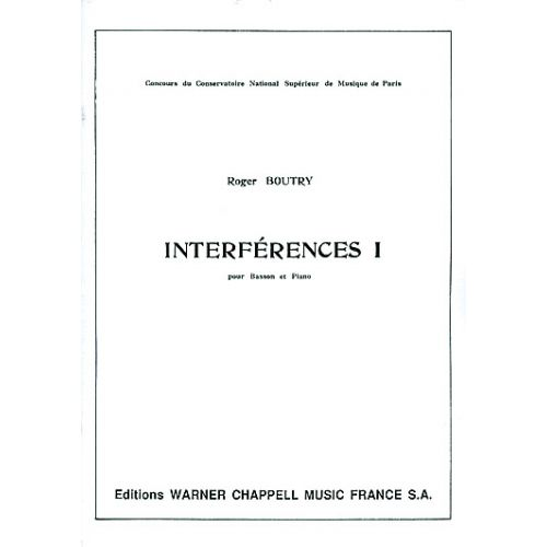 CARISCH BOUTRY - INTERFERENCES VOL. 1 - BASSON, PIANO