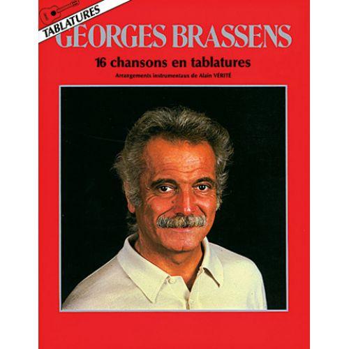 CARISCH BRASSENS G. - 16 CHANSONS - GUITARE TAB