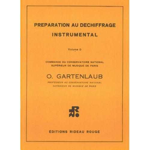 RIDEAU ROUGE GARTENLAUB O. - PREPARATION AU DECHIFFRAGE VOL. D - FORMATION MUSICALE