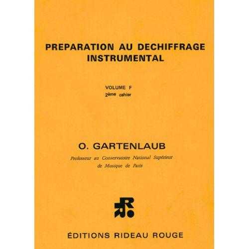 RIDEAU ROUGE GARTENLAUB O. - PREPARATION AU DECHIFFRAGE VOL. F2 - FORMATION MUSICALE