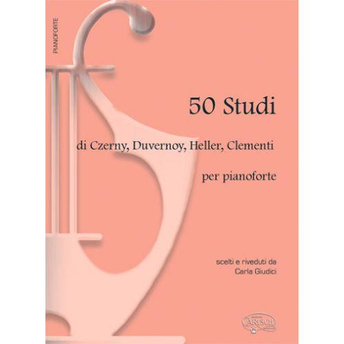 CARISCH CZERNY, CLEMENTI, DUVERNOY, HELLER - 50 STUDI - PIANO
