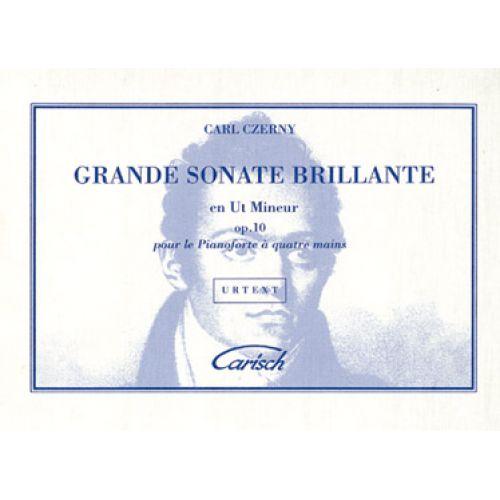 CARISCH CZERNY CARL - GRANDE SONATE BRILLANTE EN UT MINEUR OP.10 - PIANO 4 MAINS