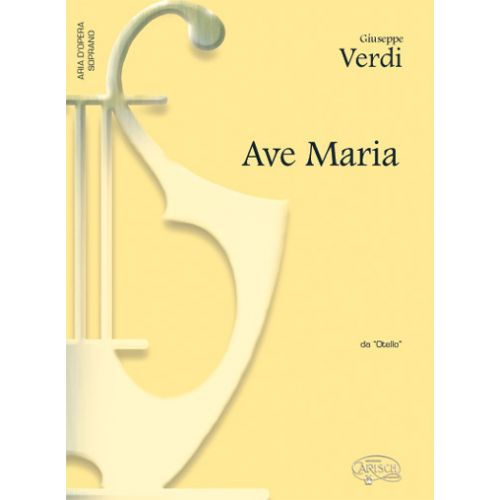 CARISCH VERDI G. - AVE MARIA - PIANO, VOIX SOPRANO