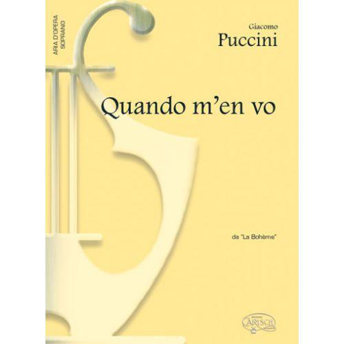 CARISCH PUCCINI GIACOMO - QUANDO M'EN VO - PIANO, VOIX SOPRANO