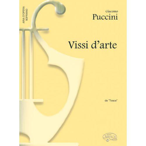 CARISCH PUCCINI GIACOMO - VISSI D'ARTE - PIANO, VOIX SOPRANO