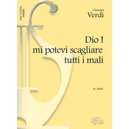 CARISCH VERDI G. - DIO! MI POTEVI SCAGLIARE TUTTI E MALI - PIANO, VOIX TENOR