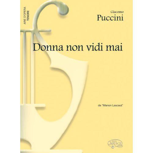 CARISCH PUCCINI GIACOMO - DONNA NON VIDI MAI - PIANO, VOIX TENOR