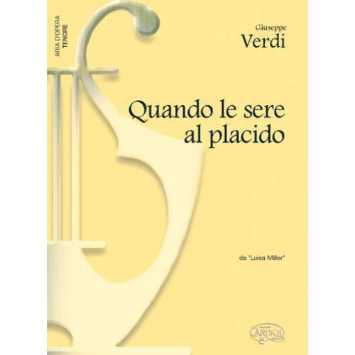 CARISCH VERDI G. - QUANDO LE SERE AL PLACIDO - PIANO, VOIX TENOR