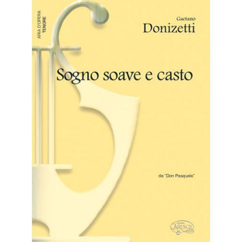 CARISCH DONIZETTI GAETANO - SOGNO SOAVE E CASTO - PIANO, VOIX TENOR