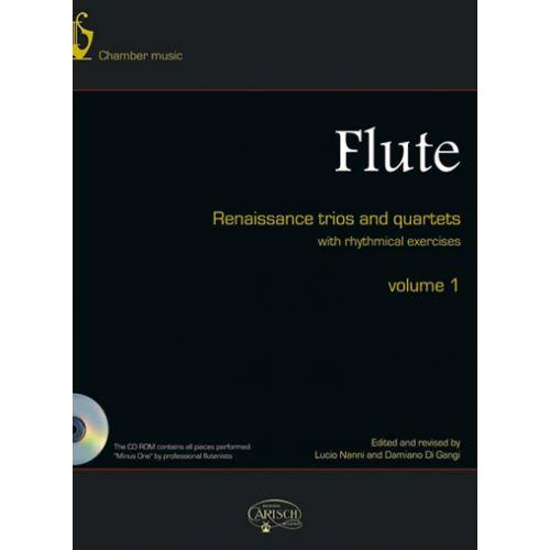 CARISCH FLUTE RENAISSANCE TRIOS AND QUARTETS VOL.1 + CD