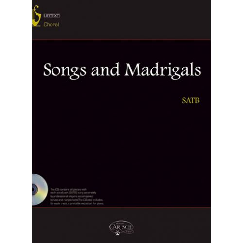 CARISCH SONGS AND MADRIGALS + CD - CHOIR SATB