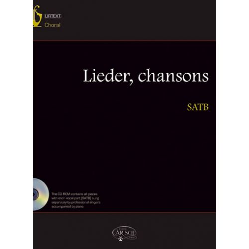 CARISCH LIEDER, CHANSONS + CD - CHOIR SATB