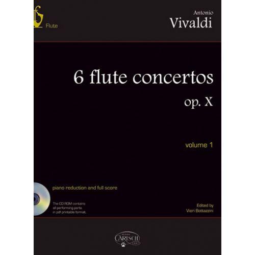 CARISCH VIVALDI ANTONIO - 6 FLUTE CONCERTOS OP.X VOL.1 + CD - FLUTE