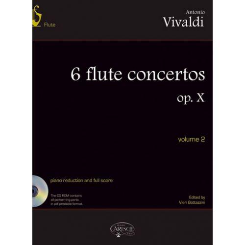 CARISCH VIVALDI ANTONIO - 6 FLUTE CONCERTOS OP.X VOL.2 + CD - FLUTE