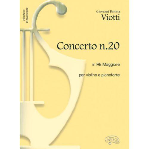 CARISCH VIOTTI G.B. - CONCERTO N.20 IN RE MAJEUR - VIOLON, PIANO