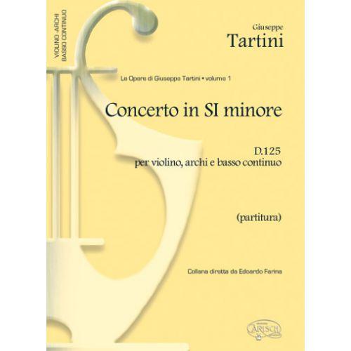 CARISCH TARTINI G. - CONCERTO VOL. 1 D125 SI MINEUR - VIOLON ET AUTRES INSTRUMENTS