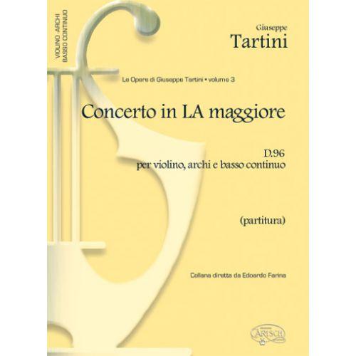 CARISCH TARTINI G. - CONCERTO VOL. 3 D96 LA MAJEUR - VIOLON ET AUTRES INSTRUMENTS