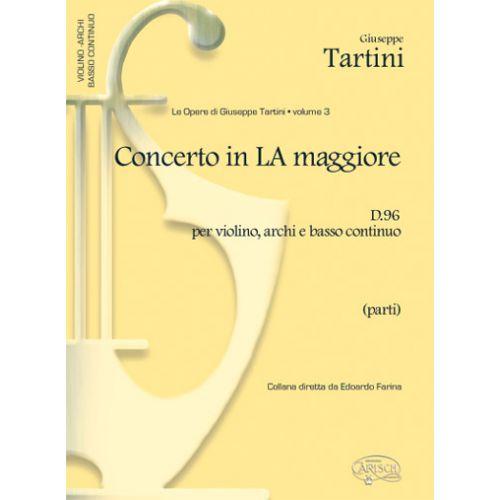 CARISCH TARTINI G. - CONCERTO VOL.3 D96 LA MAJEUR - VIOLON ET AUTRES INSTRUMENTS