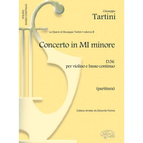 CARISCH TARTINI G. - CONCERTO VOL. 6 D56 MI MIN PARTITURA - VIOLON ET AUTRES INSTRUMENTS