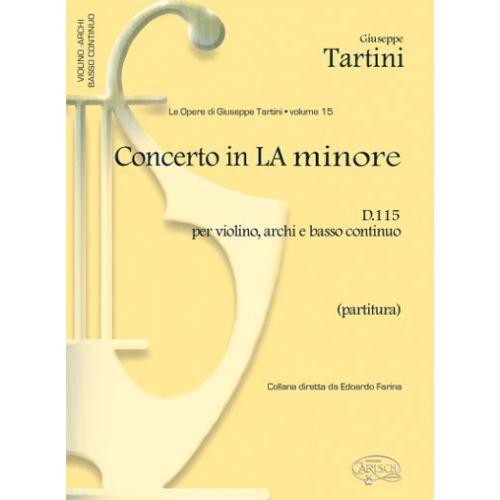 CARISCH TARTINI G. - CONCERTO VOL. 15 D115 LA MINEUR - VIOLON ET AUTRES INSTRUMENTS