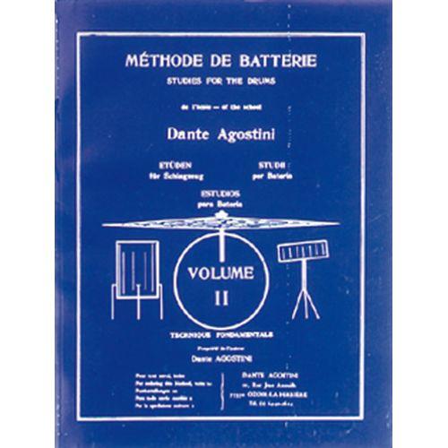 AGOSTINI AGOSTINI - METHODE DE BATTERIE VOL.2 : TECHNIQUES FONDAMENTALES