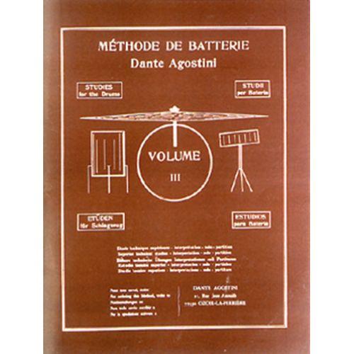 AGOSTINI AGOSTINI - METHODE DE BATTERIE VOL.3 : TECHNIQUES SUPÉRIEURES