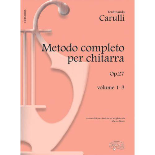 CARISCH CARULLI FERDINANDO - METODO COMPLETO VOL. 1-3 - GUITARE