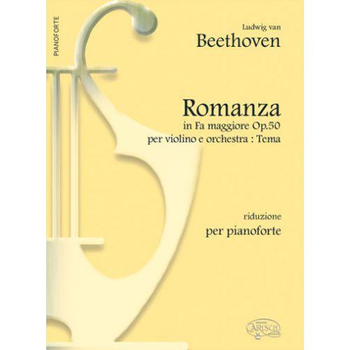 CARISCH BEETHOVEN L.V. - TEMA ROMANZA FA MAJEUR OP.50 - PIANO