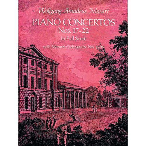 DOVER MOZART W.A. - PIANO CONCERTOS N°17-22 - FULL SCORE