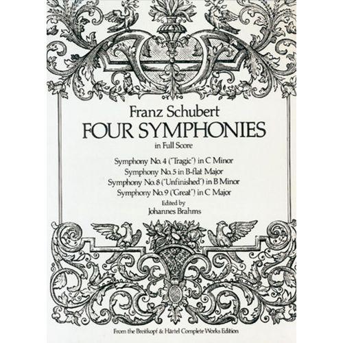 DOVER SCHUBERT F. - FOUR SYMPHONIES - FULL SCORE