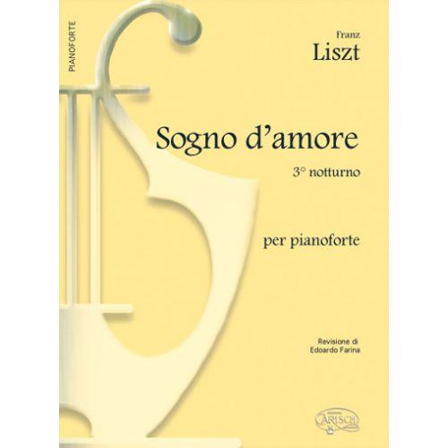 CARISCH LISZT FRANZ - SOGNO D'AMORE N.3 - PIANO