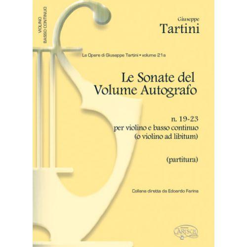 CARISCH TARTINI G. - SONATE VOL.21A, N.19-23 - VIOLON ET AUTRES INSTRUMENTS