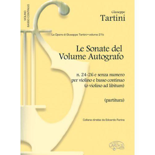 CARISCH TARTINI G. - SONATE VOL. 21B, N.24-26 - VIOLON ET AUTRES INSTRUMENTS
