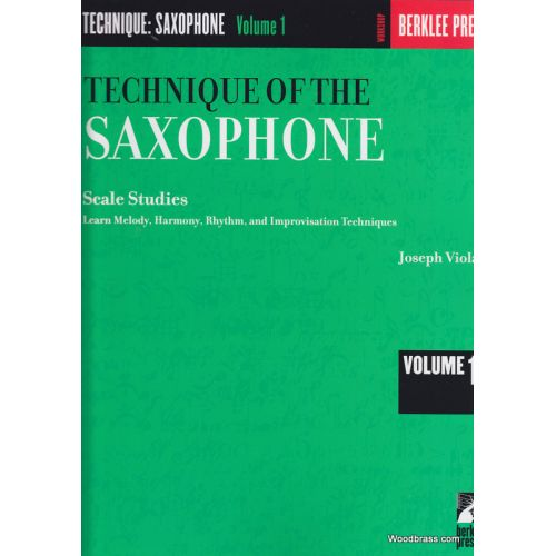 BERKLEE VIOLA JOSEPH - TECHNIQUE OF THE SAXOPHONE VOL. 1