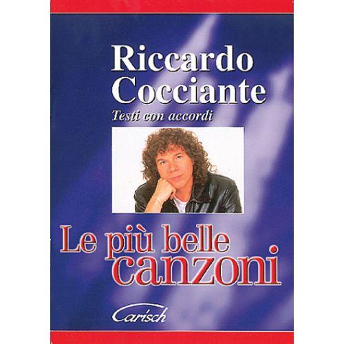 CARISCH COCCIANTE RICCARDO - PIU' BELLE CANZONI - PAROLES ET ACCORDS