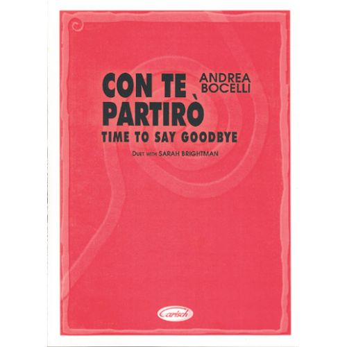 CARISCH BOCELLI ANDREA - CON TE PARTIRO - PIANO, CHANT