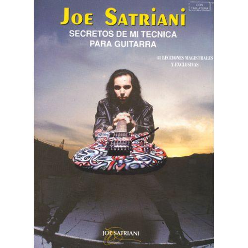 MUSIC DISTRIBUCION SATRIANI JOE - SECRETOS TECNICA GUITARRA - GUITARE