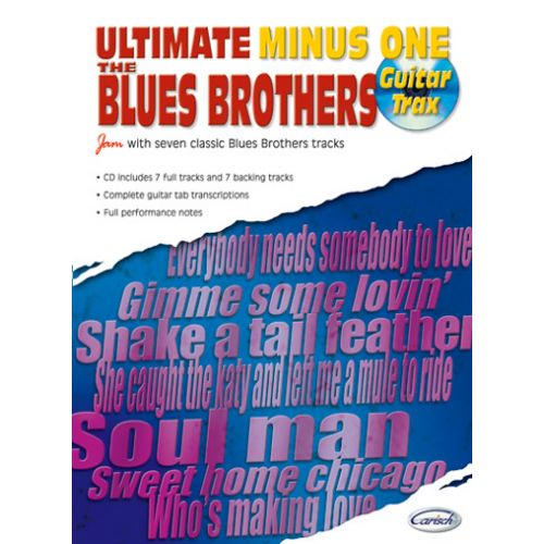 CARISCH BLUES BROTHERS - ULTIMATE MINUS ONE GUITAR TRAX + CD
